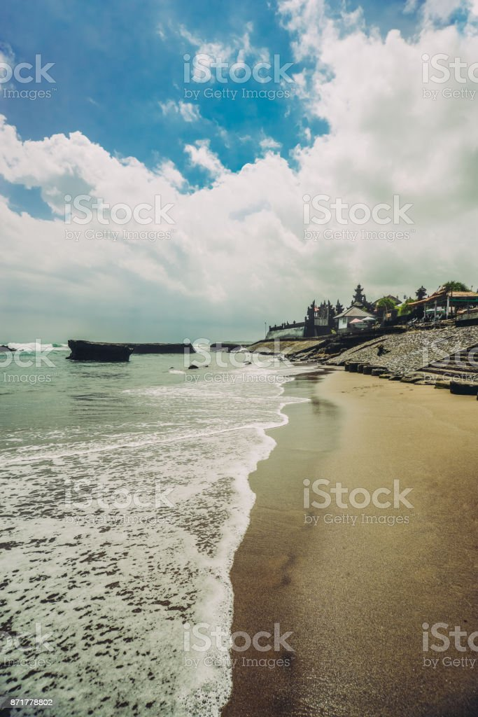Beautiful view od Rocky Coastline in Bali, Indonesia stock photo