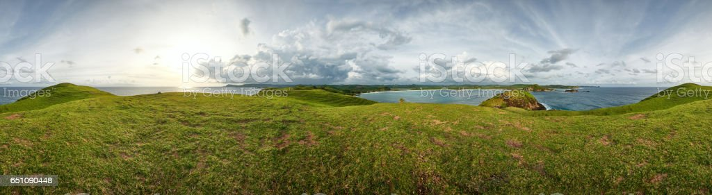 Beautiful view of 360 degrees at sunset stock photo