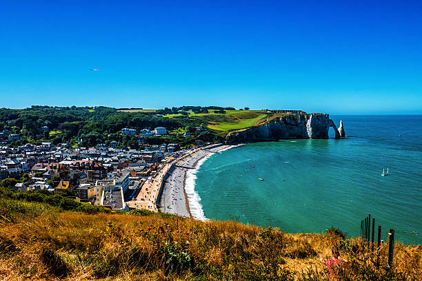 Beautiful view of Alabaster Coast in Normandy Beautiful view of Alabaster Coast in Normandy dieppe france stock pictures, royalty-free photos & images