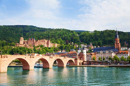 Beautiful view of Alte Brucke bridge and castle