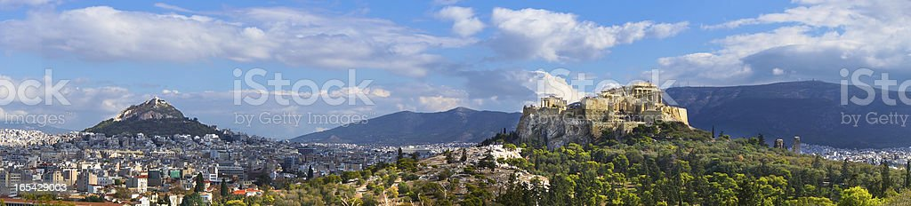 Beautiful view of ancient Acropolis, Athens, Greece royalty-free stock photo