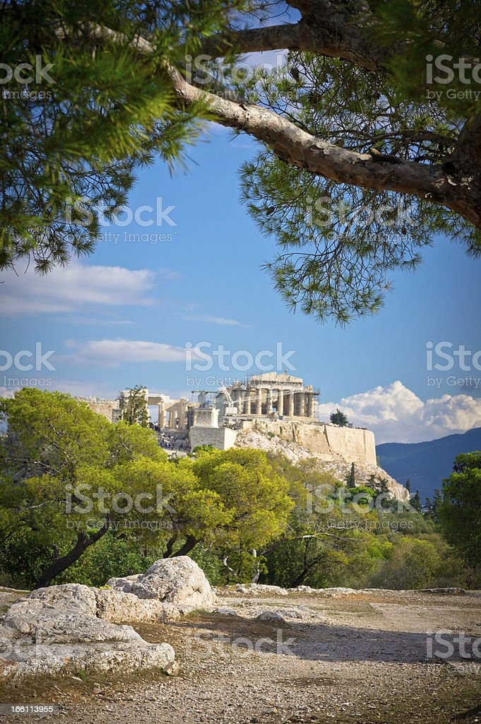 Beautiful view of ancient Acropolis, Athens, Greece stock photo