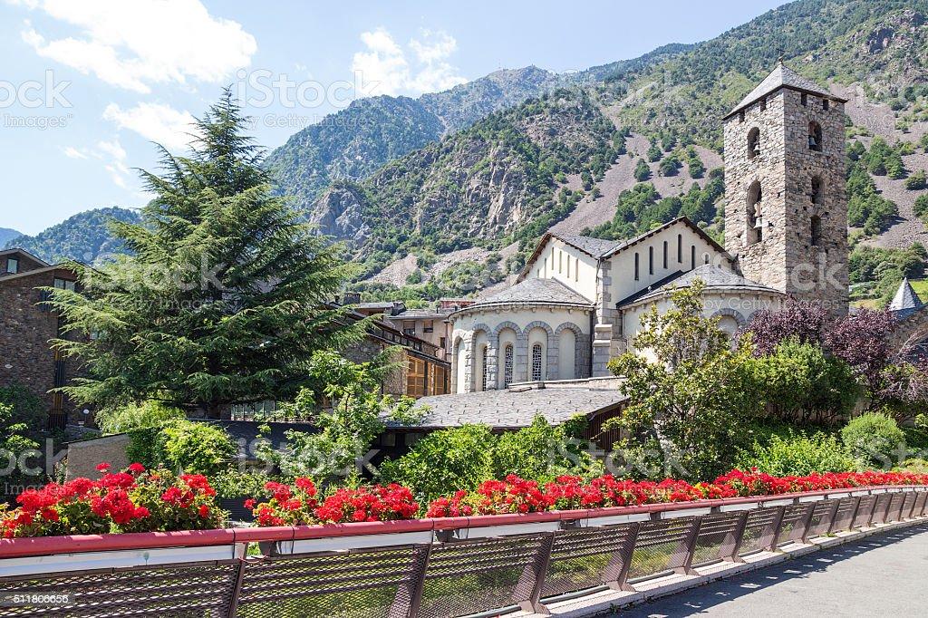 Beautiful view of Andorra La Vella stock photo