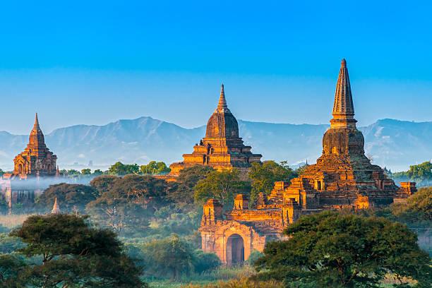 Beautiful view of Bagan, Myanmar Ananda temple in Bagan, Myanmar. myanmar stock pictures, royalty-free photos & images