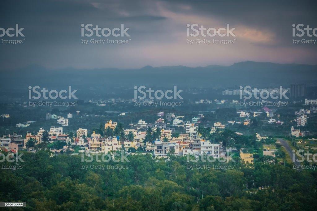 Beautiful View Of Bangalore City stock photo