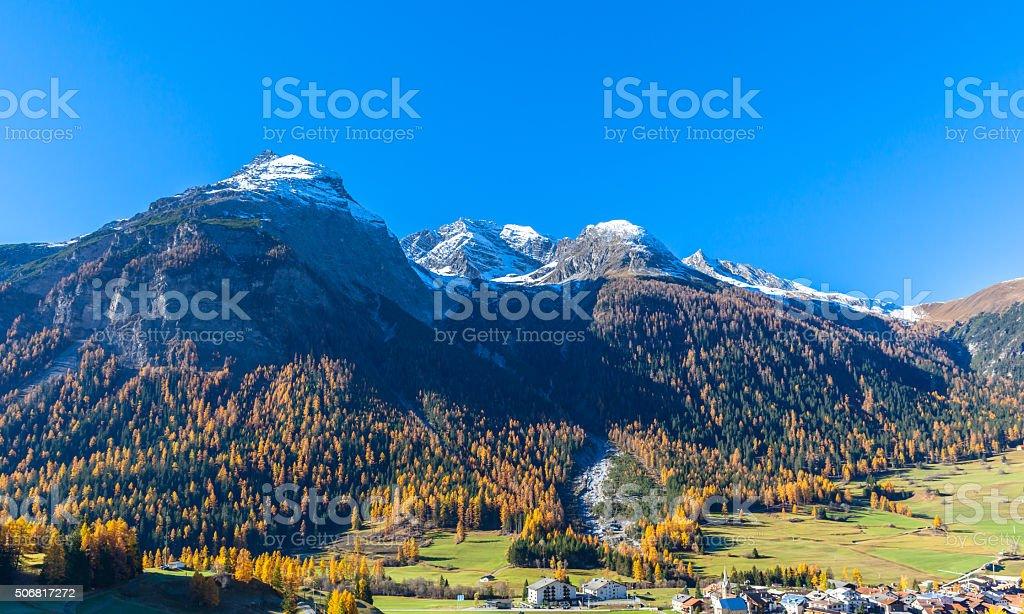 Beautiful view of Bergun in Autumn stock photo