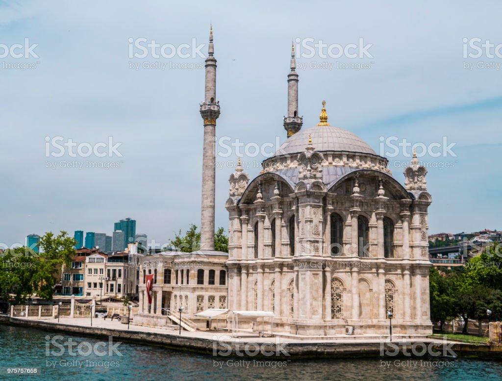Schöne Aussicht auf die Küste von Bosporus in Istanbul - Lizenzfrei Blau Stock-Foto