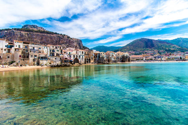 Beautiful view of cefalu, Sicily - foto stock
