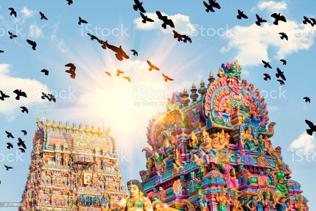 Beautiful View Of Colorful Gopura In The Hindu