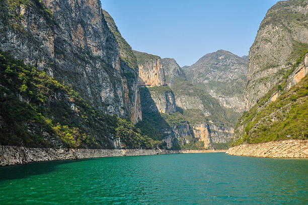 Beautiful View of Daning River, Lesser Three Gorges - China stock photo