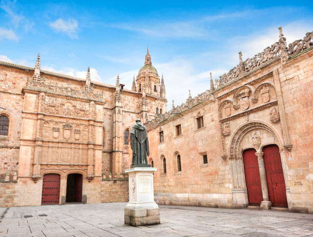 Beautiful view of famous University of Salamanca, the oldest university in Spain and one of the oldest in Europe, in Salamanca, Castilla y Leon region, Spain – Foto