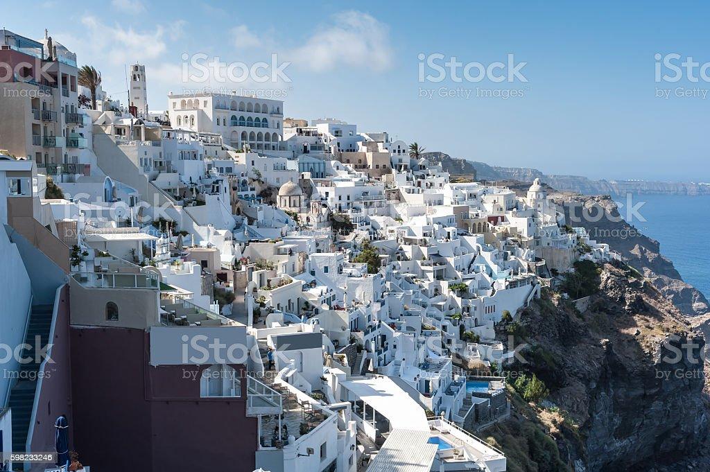 Beautiful view of Fira - Santorini foto royalty-free