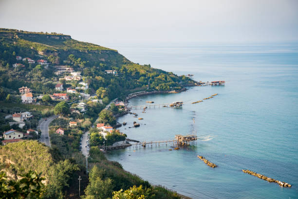 Beautiful view of Fossacesia coastline in Abruzzo, Italy stock photo