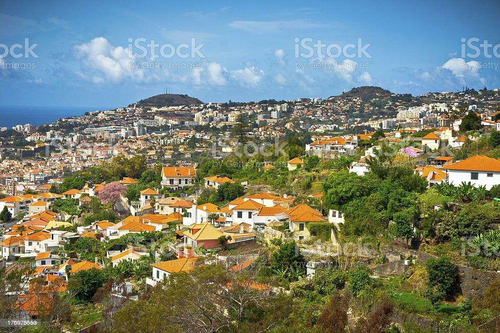 Beautiful view of Funchal, Madeira Island royalty-free stock photo