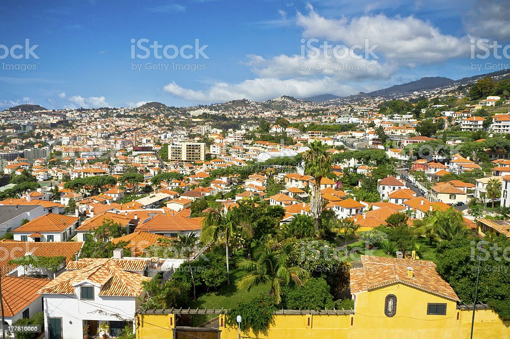 Beautiful view of Funchal, Madeira Island, Portugal royalty-free stock photo