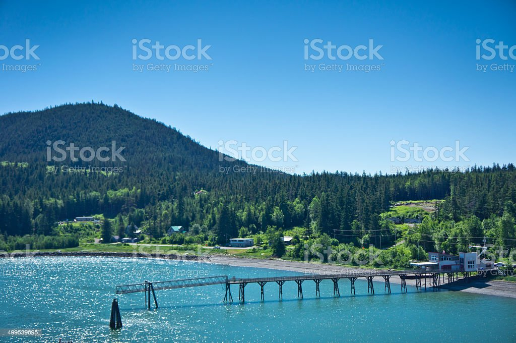 Beautiful view of Haines city near Glacier Bay, Alaska, USA royalty-free stock photo