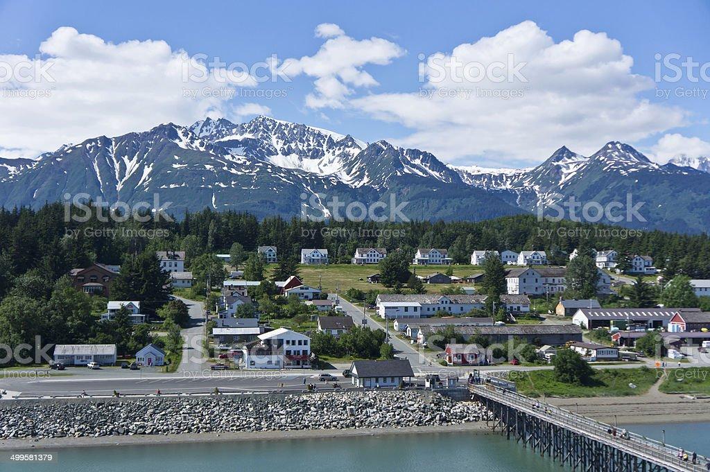 Beautiful view of Haines city near Glacier Bay, Alaska, USA stock photo