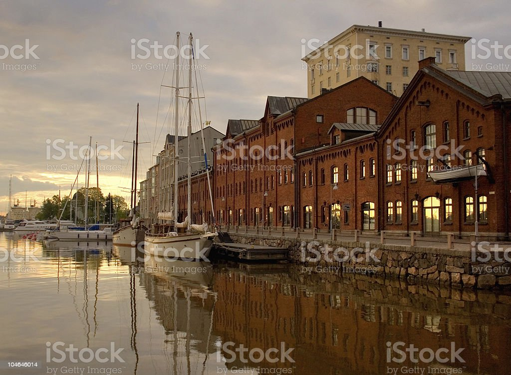 Beautiful view of Helsinki royalty-free stock photo