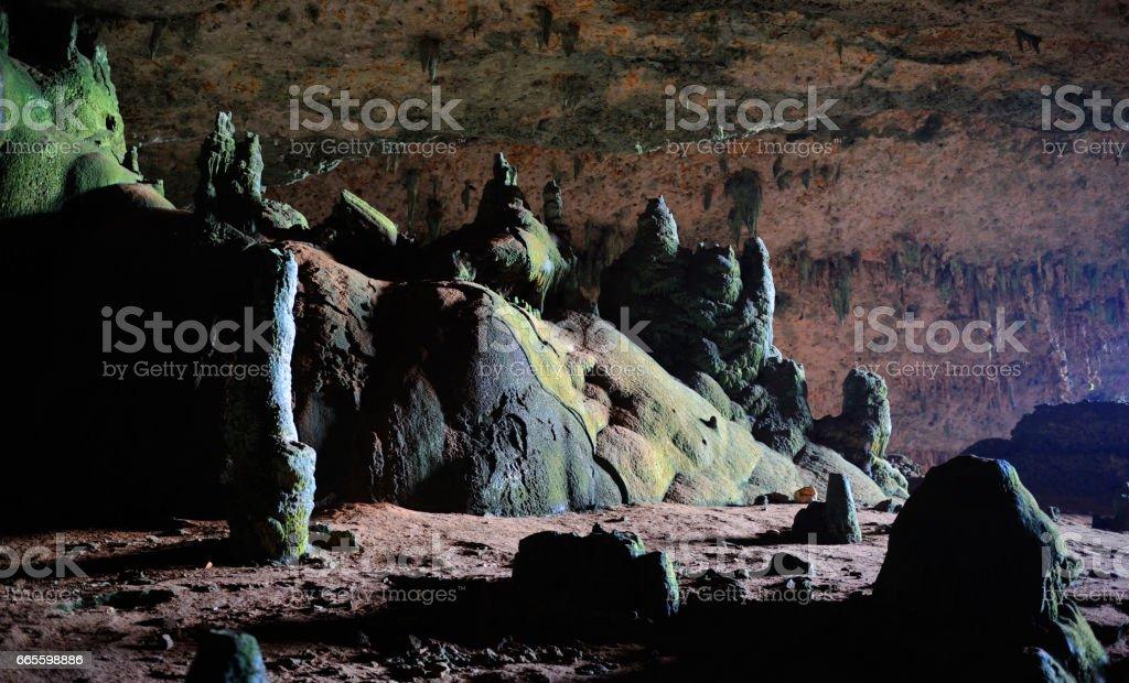 Beautiful view of Hoq cave in Socotra island, Yemen. stock photo