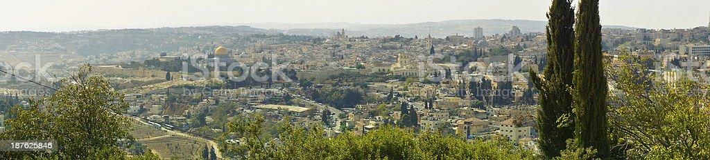 Beautiful view of Jerusalem city, Israel royalty-free stock photo