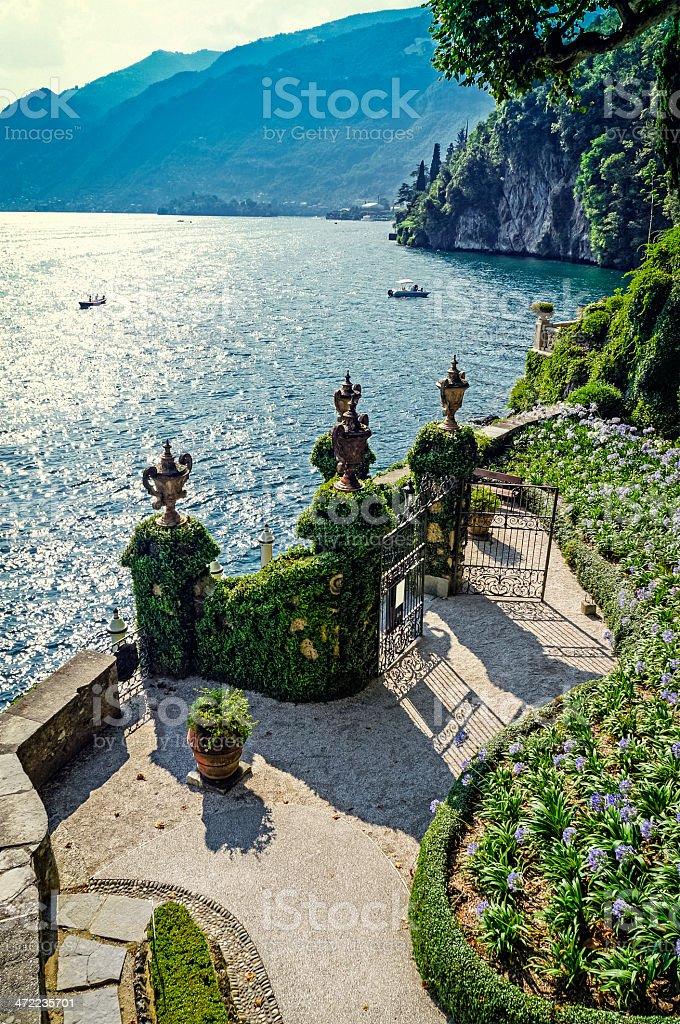 Beautiful view Of Lake Como, Lombardy, Italy stock photo