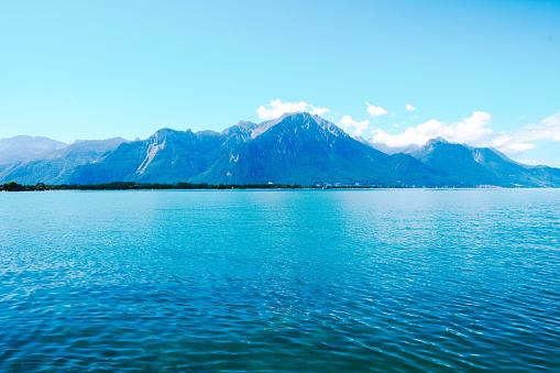 Beautiful view of lake Geneva, Switzerland.