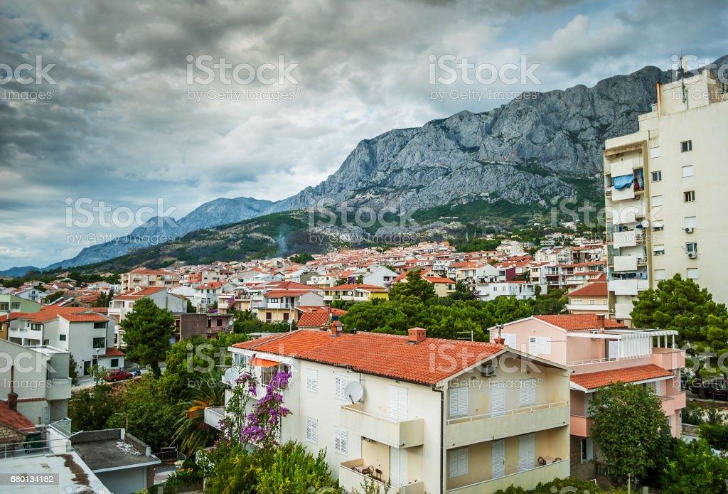 Beautiful view of Makarska stock photo