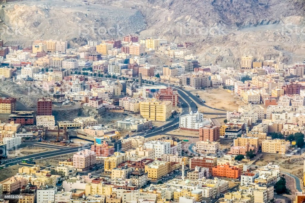 Beautiful View Of Makkah City From Makkah Mountains Saudi Arabia Stock Photo Download Image Now Istock