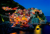 'Manarola, Cinque Terre, ItalyA bit noise added for the real film effect.'