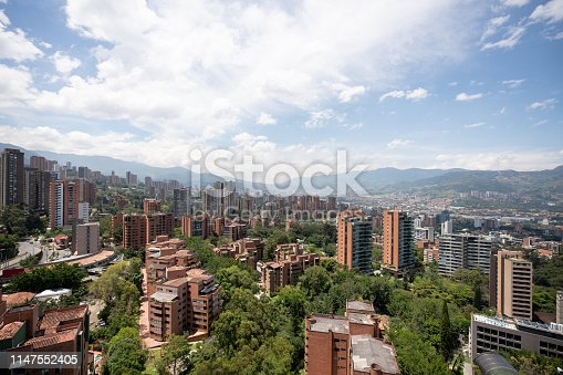 Beautiful view of the city of Medellin, Colombia - travel destination concepts