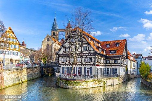istock Beautiful view of medieval town Esslingen am Neckar in Germany 1134687943