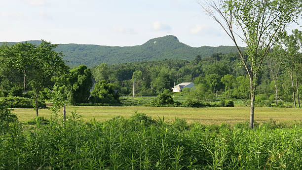 Beautiful View of Monument Mountain in the Distance, Massachusetts stock photo