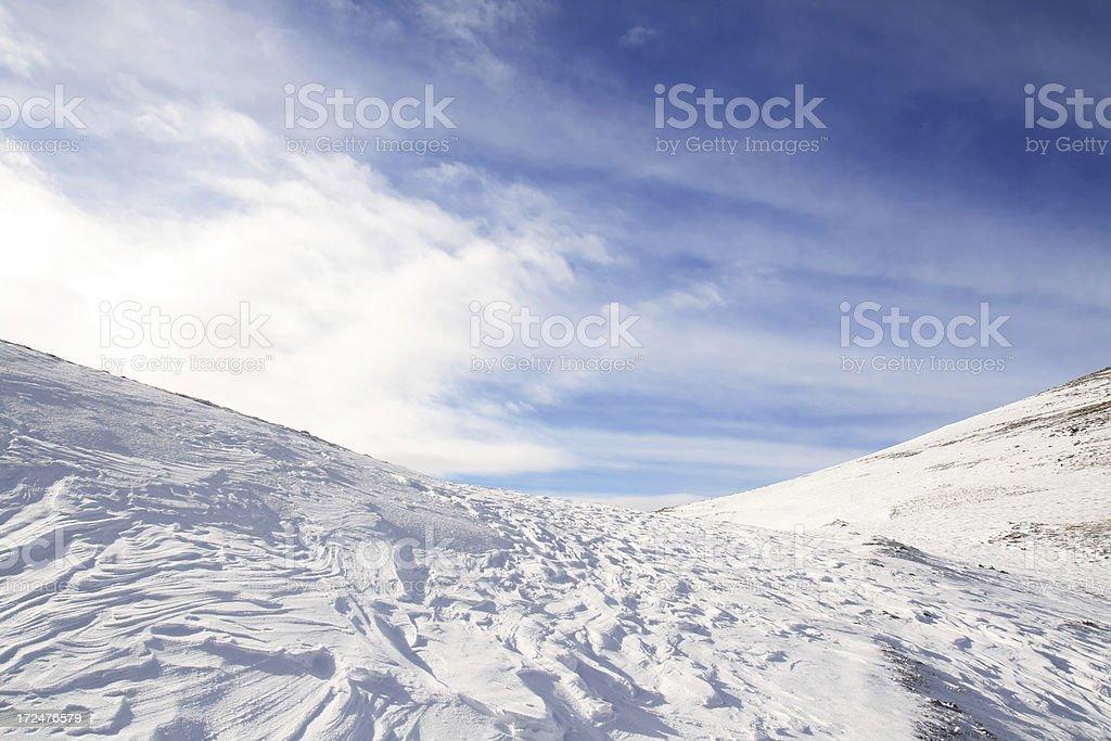 Beautiful view of mountain Bjelasnica royalty-free stock photo