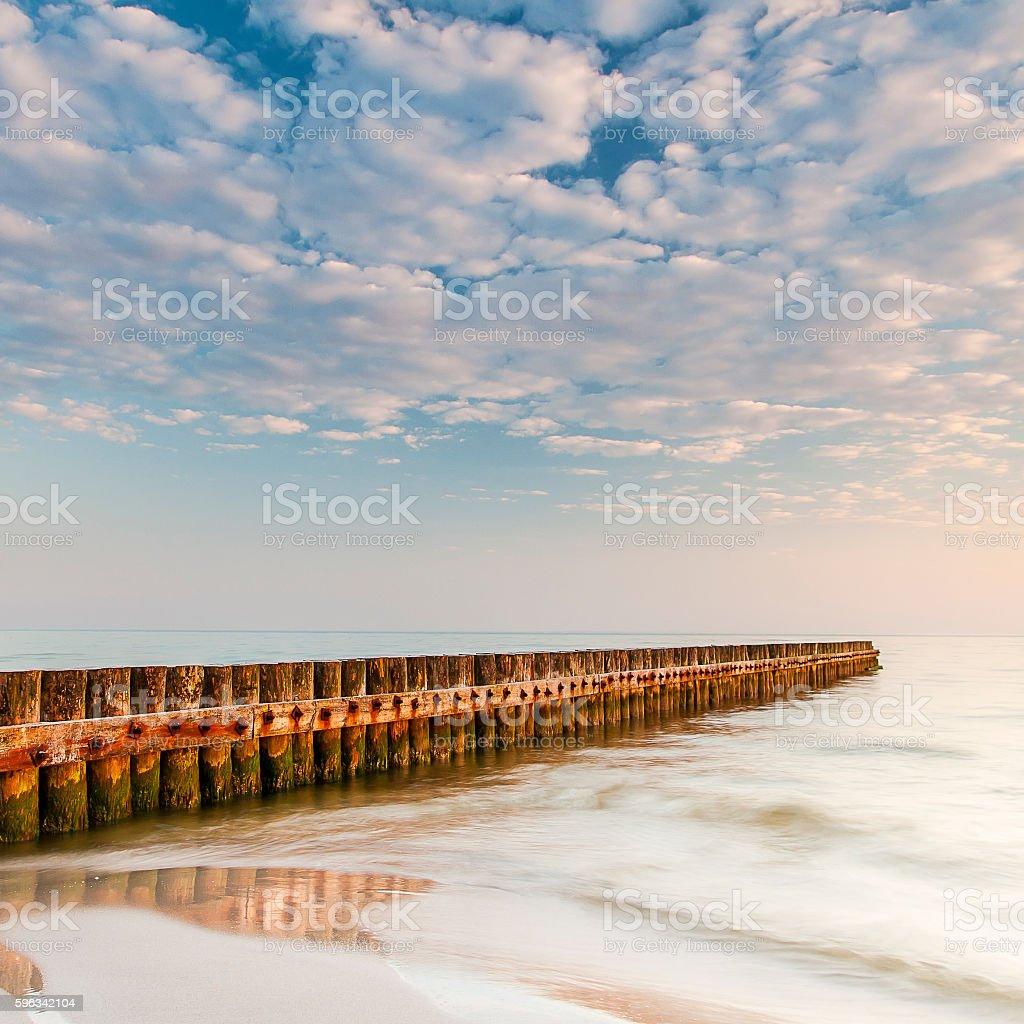 beautiful view of Polish Baltic Sea royalty-free stock photo