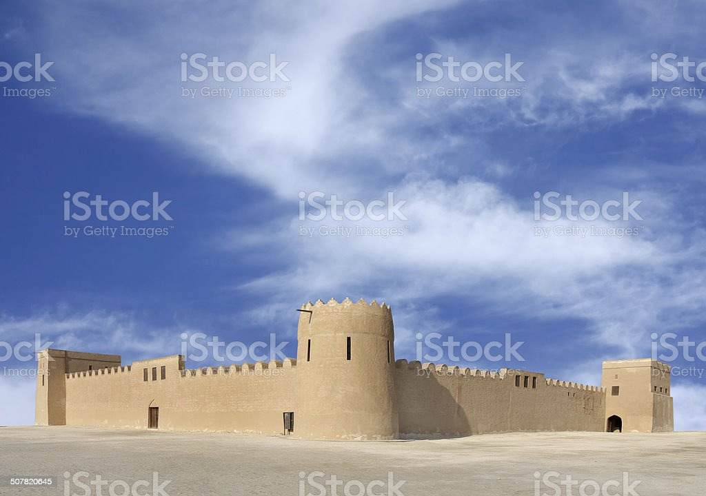 Beautiful view of Riffa Fort Bahrain from East stock photo