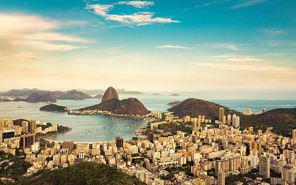 herrlichen blick auf rio de janeiro, brasilien - rio de janeiro stock-fotos und bilder