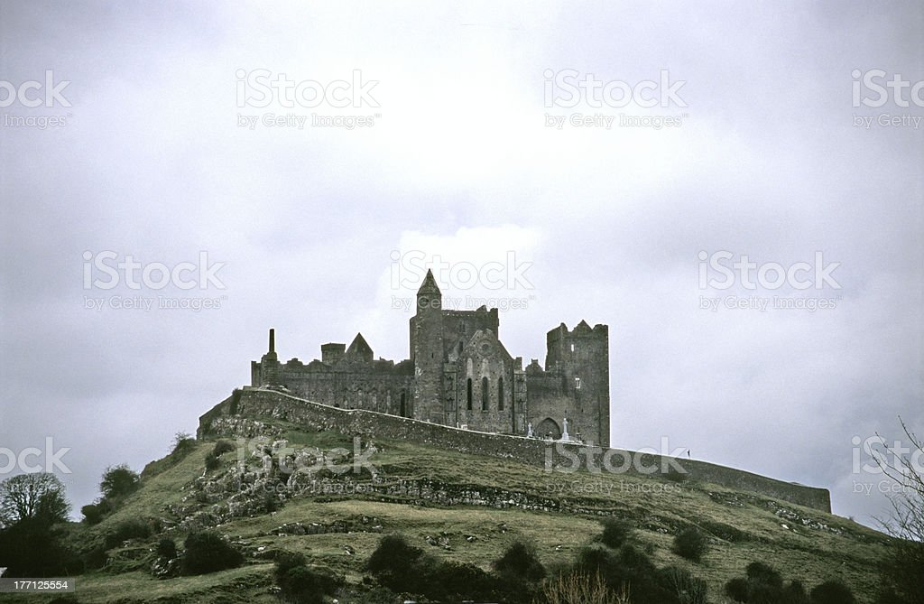 A beautiful view of Rock of Cashel stock photo