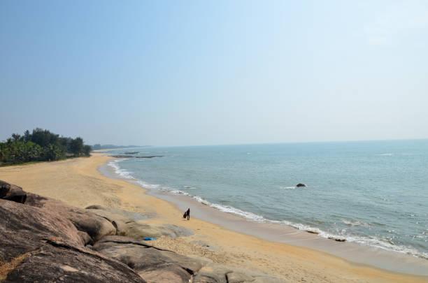Schöne Aussicht auf felsigen Strand Someshwar – Foto