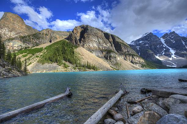 Beautiful view of Rocky Mountains in British Columbia stock photo