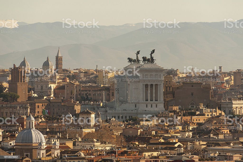 Beautiful view of Rome royalty-free stock photo