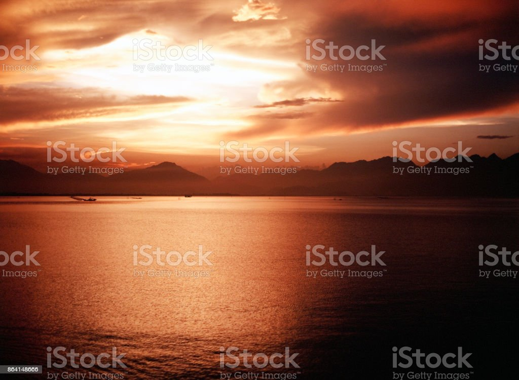 A beautiful view of seascape and mountain in Saigon, Vietnam in autumn royalty-free stock photo