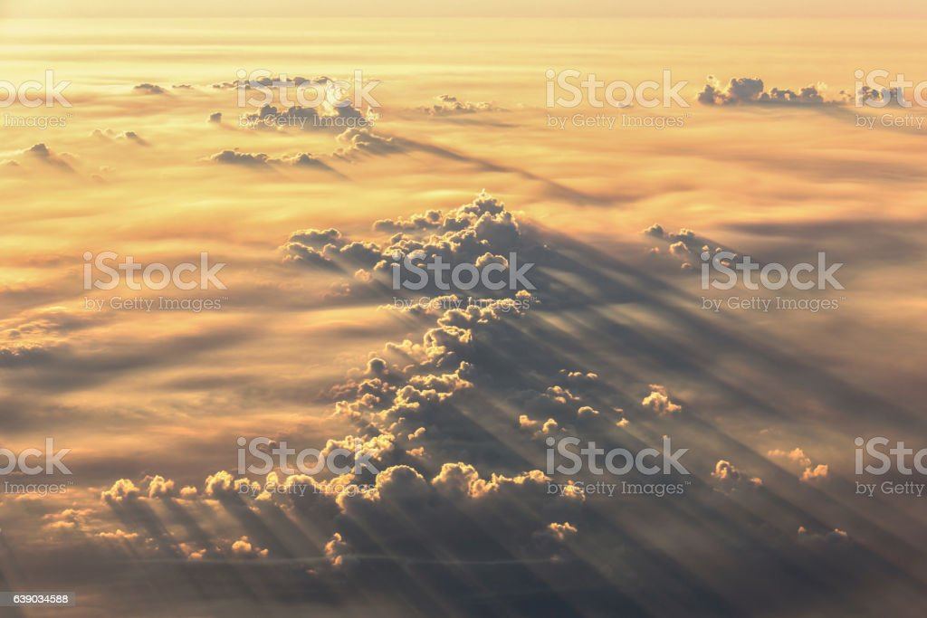 beautiful view of sky and clouds at morning time. stock photo