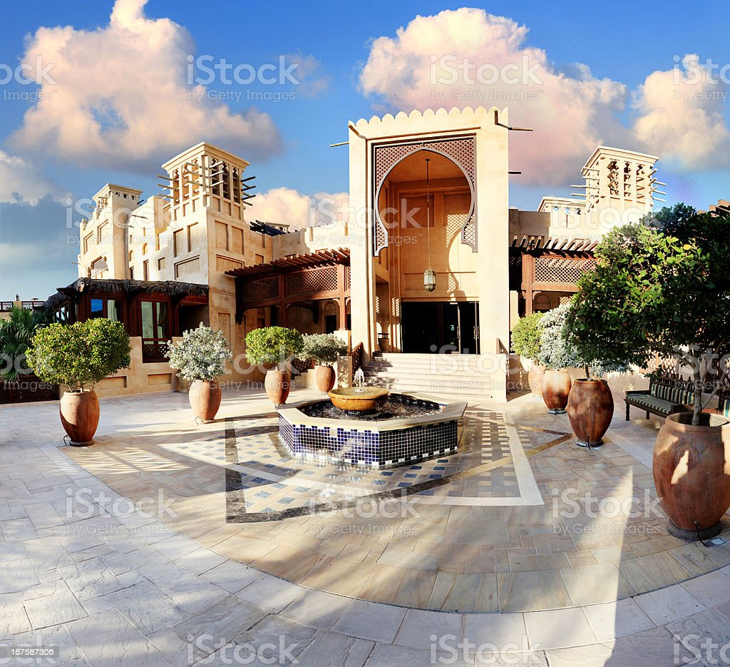 Beautiful view of Souq Madinat Jumeirah stock photo