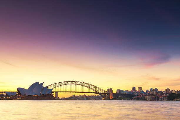 Beautiful view of Sydney in sunset time. stock photo