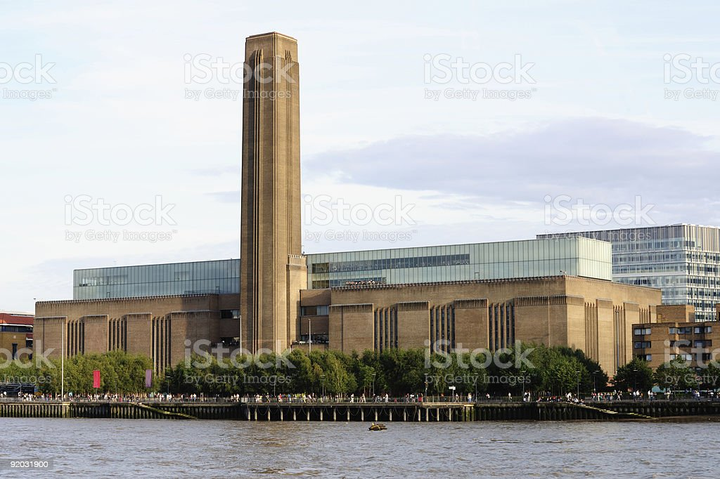 Beautiful view of Tate Modern, London, England stock photo