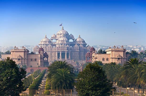 Beautiful view of Temple Akshardham in Delhi, India