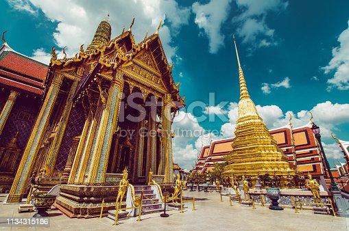 Beautiful View Of Temple Wat Pra Kaew In Bangkog, Thailand