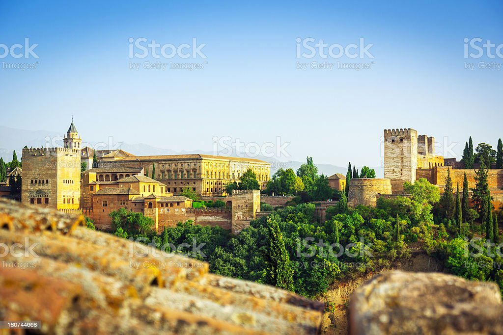 Beautiful view of the Alhambra, Spain stock photo