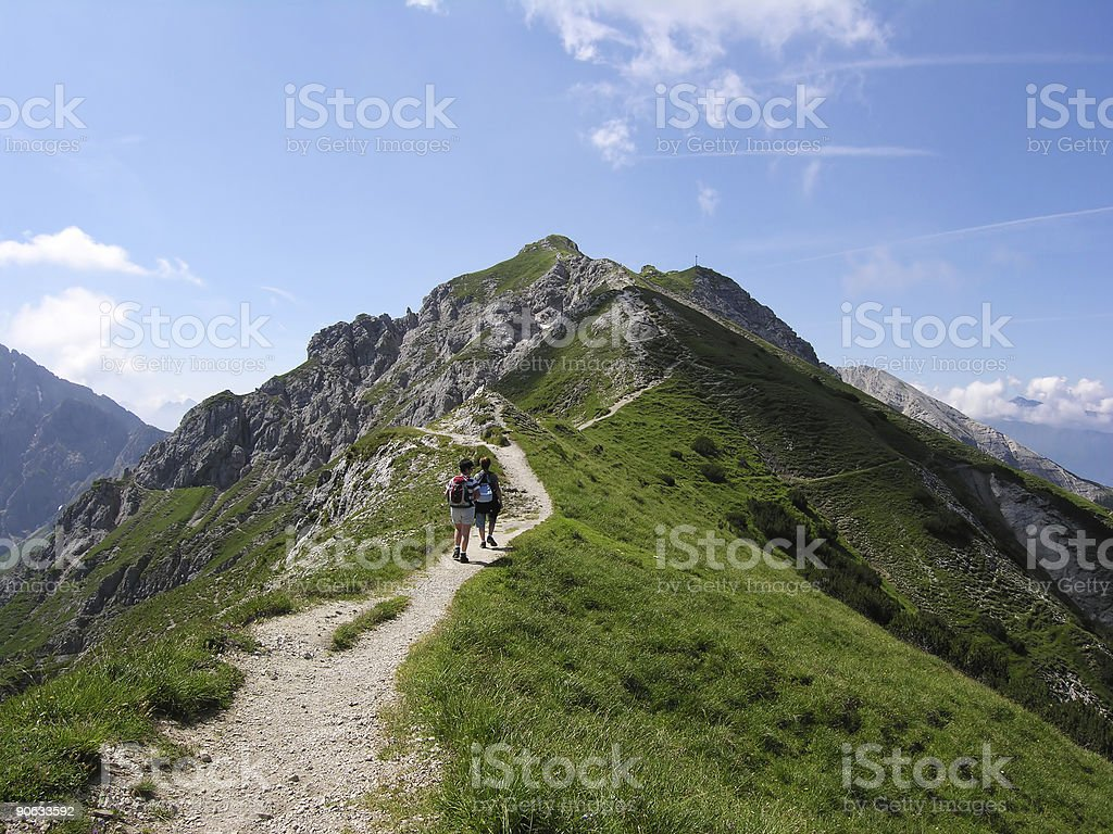 A beautiful view of the alps on a lovely day royalty-free stock photo
