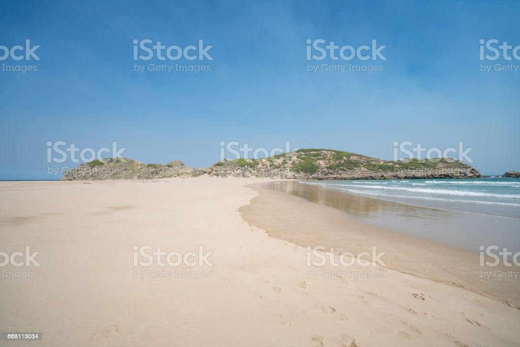 Beautiful view of the beach stock photo